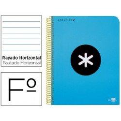 Bloc Antartik Folio Rayado Horizontal tapa Dura 100g/m2 Azul con margen