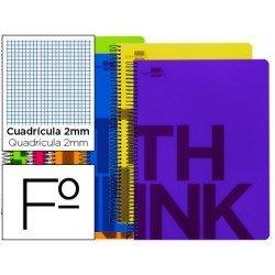 Bloc Folio marca Liderpapel serie Think milimetrado surtido
