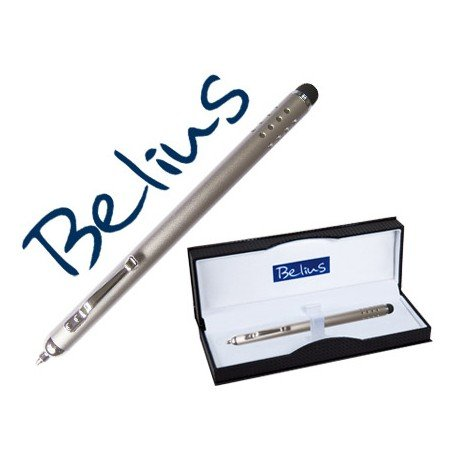 Boligrafo Belius tirana plata con puntero tactil