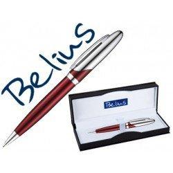 Boligrafo Belius Vaduz color cromado y plateado