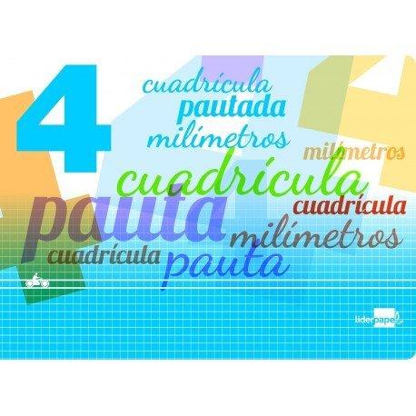 Libreta marca liderpapel pautaguia tapa cartoncillo 32 hojas din a5 70 g cuadriculado pautado 4 mm apaisado con margen colores s