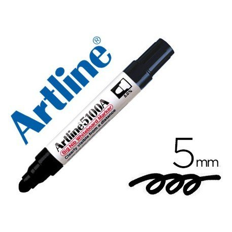Rotulador para pizarra Artline color negro punta redonda 5 mm