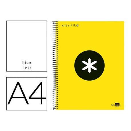 Bloc Antartik A4 Liso tapa Forrada 100g/m2 Amarillo 5 bandas color