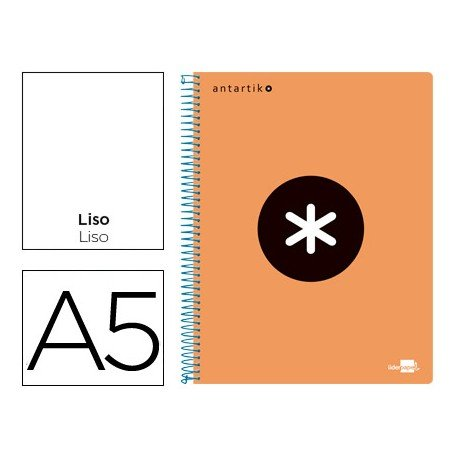 Bloc Liderpapel Din A5 Antartik liso color naranja