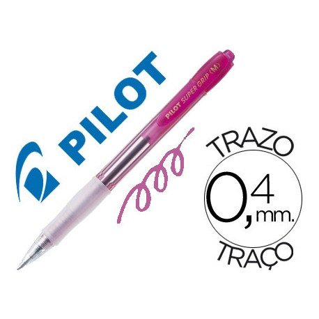 Boligrafo Pilot Super Grip color Rosa neon