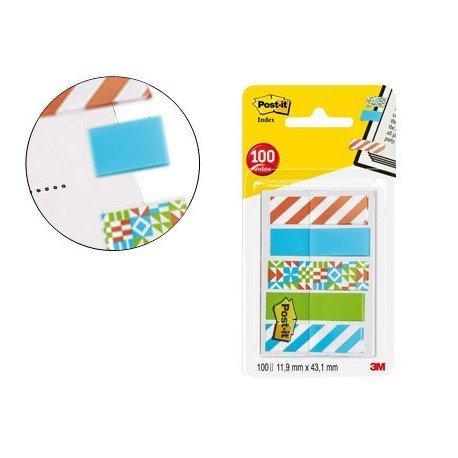 Banderitas Post-it ® separadoras decoradas de 11,9 x 43,20 mm 100 unidades
