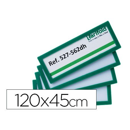 Identificador para puertas-pared Color Verde 120x45 MM