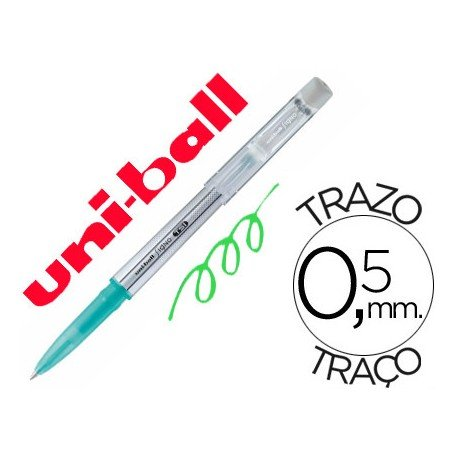 Bolígrafo Borrable roller gel UF-220 color verde 0,5 mm