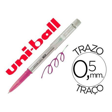 Bolígrafo Borrable roller gel UF-220 color rosa 0,5 mm