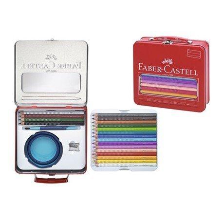 Maletin marca Faber Castell con lapices de colores asa y cierre