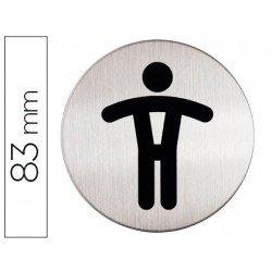 Señal Marca Durable WC Hombre