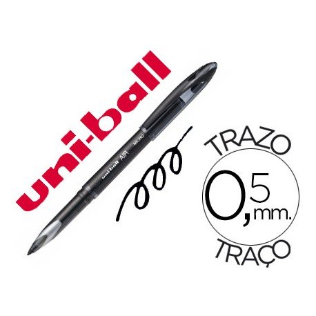 Boligrafo Uni-Ball roller AIR 188M color negro 0,5 mm
