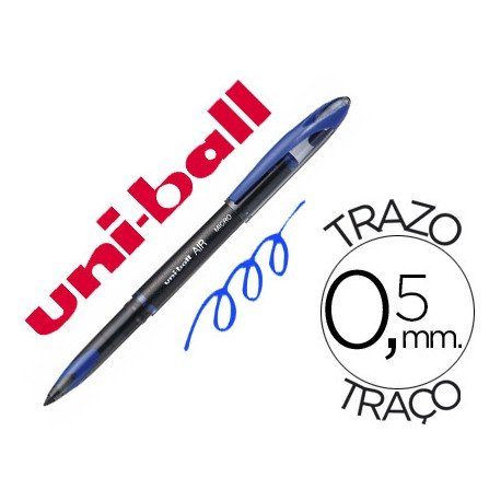 Boligrafo Uni-Ball roller AIR 188M color azul 0,5 mm
