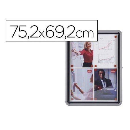 Vitrina de anuncios mural exterior 75,2x69,2cm Marca Nobo