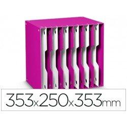 Archivador modular Cep poliestireno 12 casillas color rosa/blanco 353x250x353 mm