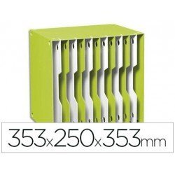 Archivador modular Cep poliestireno 12 casillas color verde/blanco 353x250x353 mm