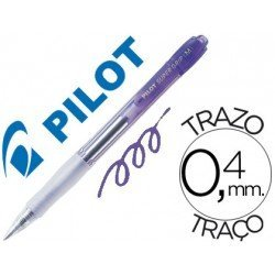 Boligrafo Pilot Super Grip color Violeta neon