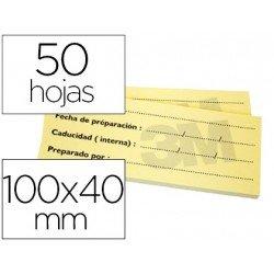 Post-it ® Bloc de notas adhesivas color amarillo trazabilidad 50 hojas