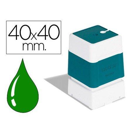 Sello automatico Brother 40 x 40 mm color verde