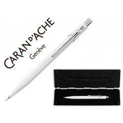 Estuche blanco portaminas marca Caran D´ache 844 trazo 0,7mm