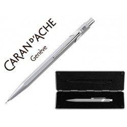Estuche gris con portaminas marca Caran D´ache 844 trazo 0,7mm