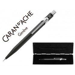 Estuche negro con portaminas marca Caran D´ache 844 trazo 0,7mm