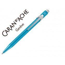 Boligrafo Caran d´Ache coleccion 849 Color azul tuquesa Trazo medio