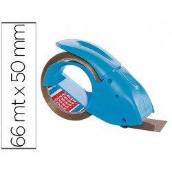 Portarrollo marca tesa embalaje para rollos de 66 mt x 50 mm azul