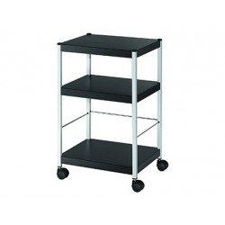 Mesa auxiliar Fast-Paperflow con 3 estantes color negro 74x45x36 cm