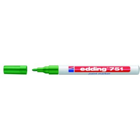 Rotulador marca Edding 751 paint marker verde efecto lacado