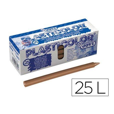 Lapices de cera Jovi Plasticolor unicolor marron claro caja de 25 unidades