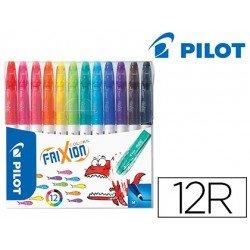 Rotulador Pilot Frixion estuche de 12 colores surtidos