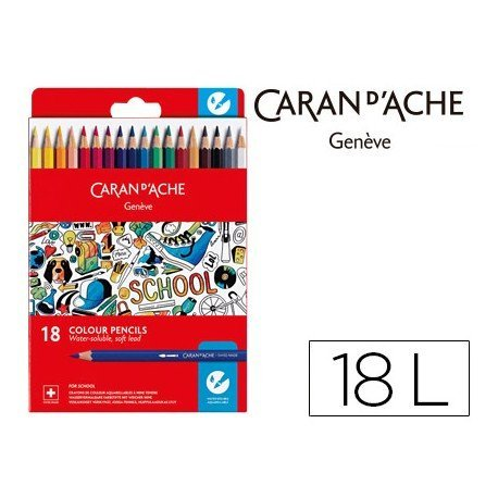 Lapices acuarelable Caran D´ache 18 colores