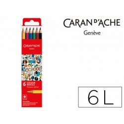 Lapices acuarelable Caran D´ache 6 Colores