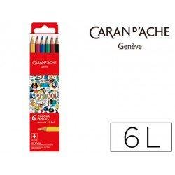 Lapices permanete Caran D´ache 6 Colores FSC