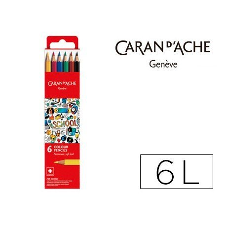 Lapices permanete Caran D´ache 6 Colores FSC