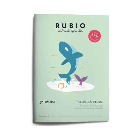 Cuaderno vacaciones Rubio 5º Primaria