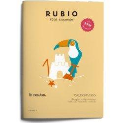 Cuaderno vacaciones Rubio 1º Primaria Catalan