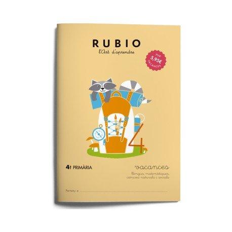 Cuaderno vacaciones Rubio 4º Primaria Catalan