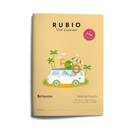 Cuaderno vacaciones Rubio 5º Primaria Catalan