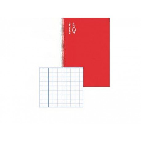 Libreta Escolofi grapada A4 32 hojas Cuadrícula Pautada rojo 131071501 - Bajo Pedido -
