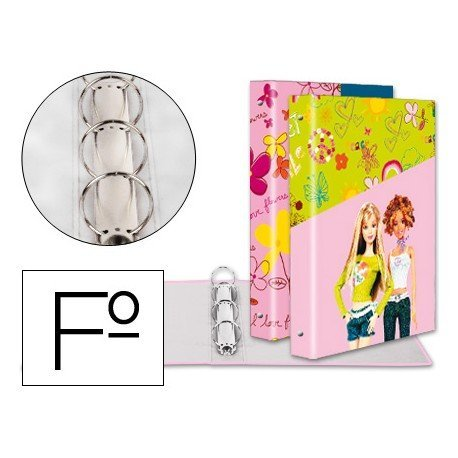 Carpeta anillas A4 fantasia Barbie Liderpapel