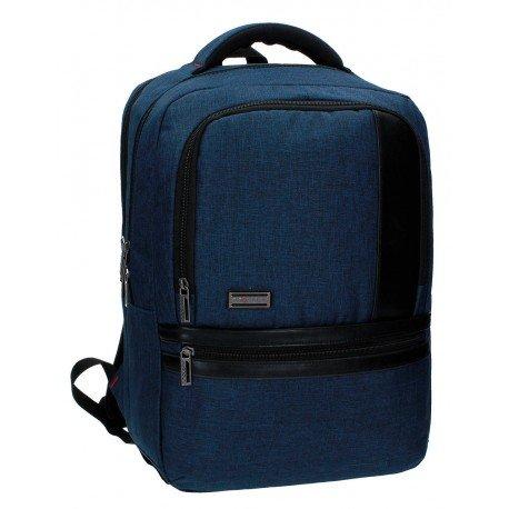 Mochila Escolar Movom Porta ordenador Sin carro 44x31x15cm Azul
