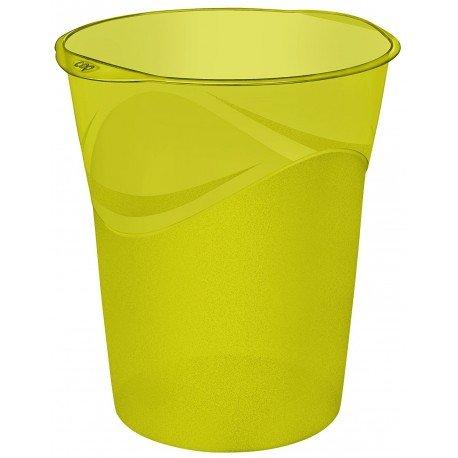 Papelera de plastico Cep Verde de 14 litros