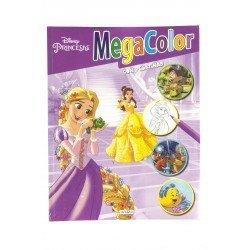 Cuaderno de Colorear Princesas Disney Con Pegatinas Megacolor 64 páginas