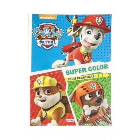 Cuaderno de Colorear Patrulla Canina Supercolor con Pegatinas 48 páginas