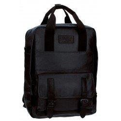 Mochila Escolar Pepe Jeans Black Label Porta ordenador Sin carro 28x38x13cm Negra