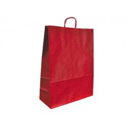 Bolsa Kraft Marca Q-Connect Rojo 270X120X360 mm