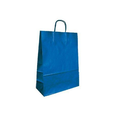 Bolsa Kraft Marca Q-Connect Azul 420X190X480 mm