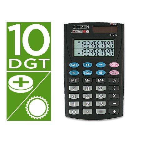 Calculadora Bolsillo Citizen Modelo ET-210 10 digitos
